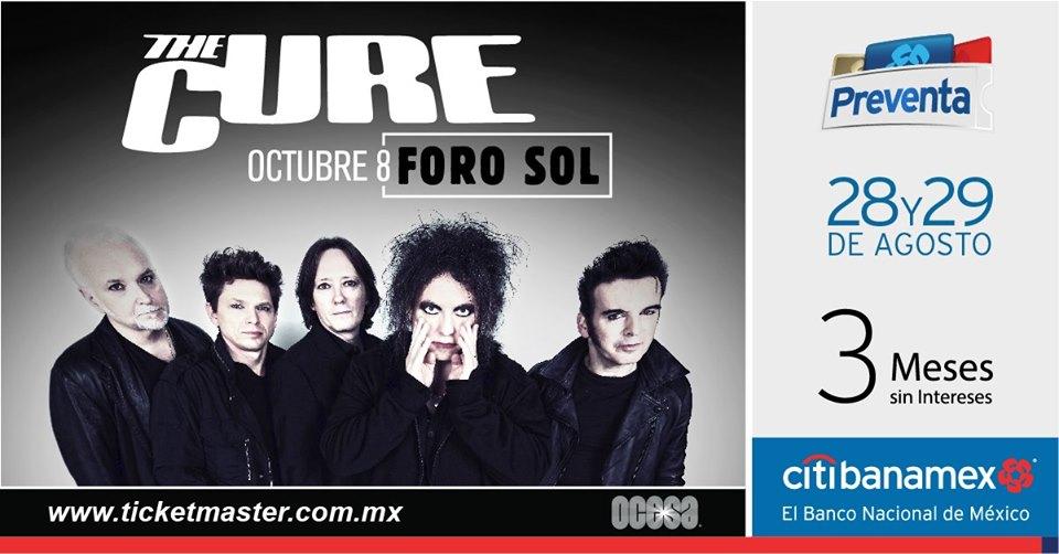 Es oficial: ¡The Cure se presentará en el Foro Sol en octubre!