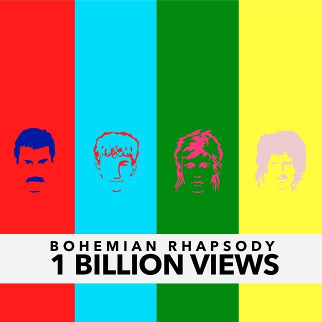 queen bohemian rhapsody video youtube freddie mercury millones 2019