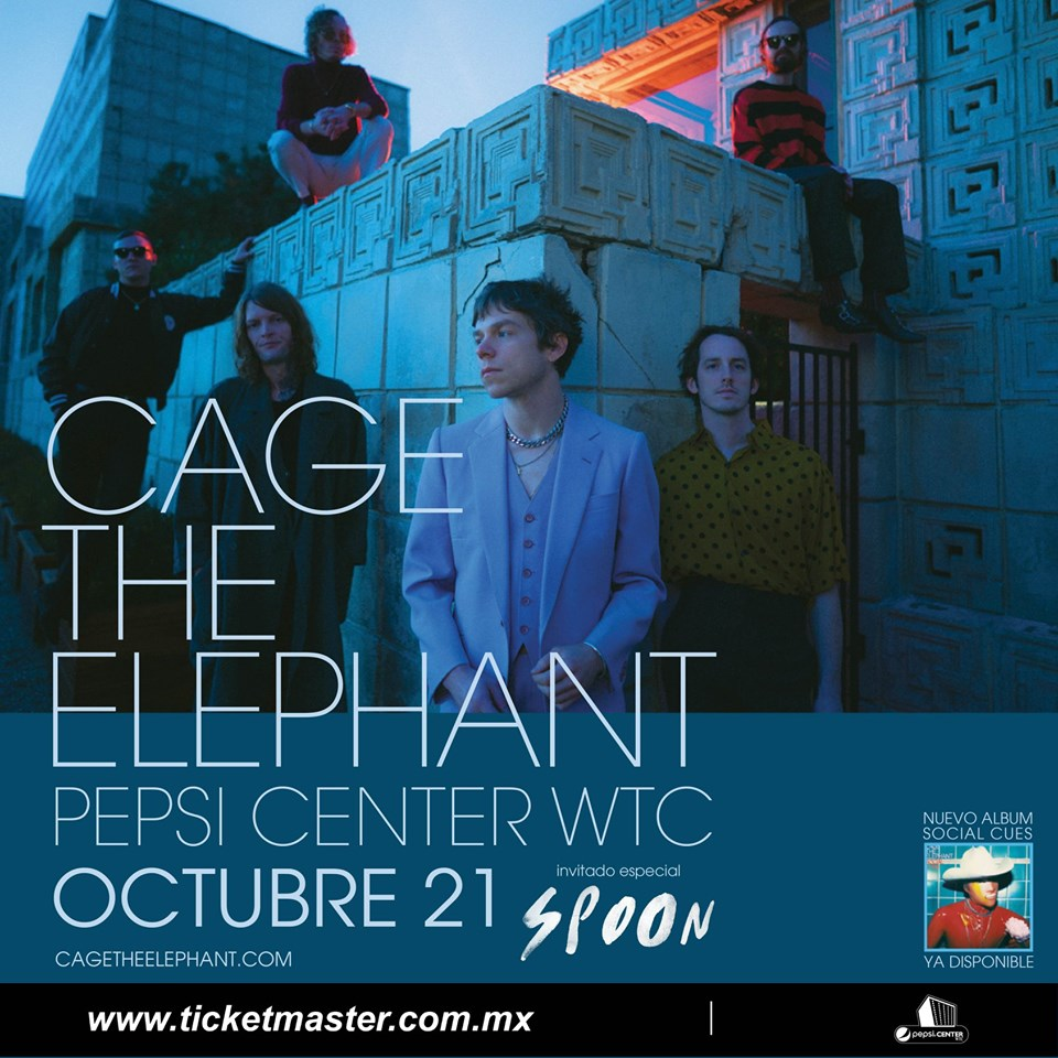 Cage The Elephant vendrá al Pepsi Center acompañado de Spoon