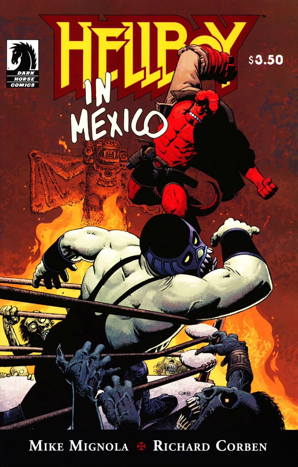 Hellboy película cinta lucha libre Guillermo del Toro Mike Mignola