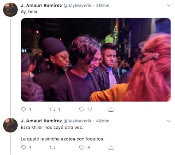 ezra miller cdmx rico club zona rosa perreo reggaeton twitter 2019