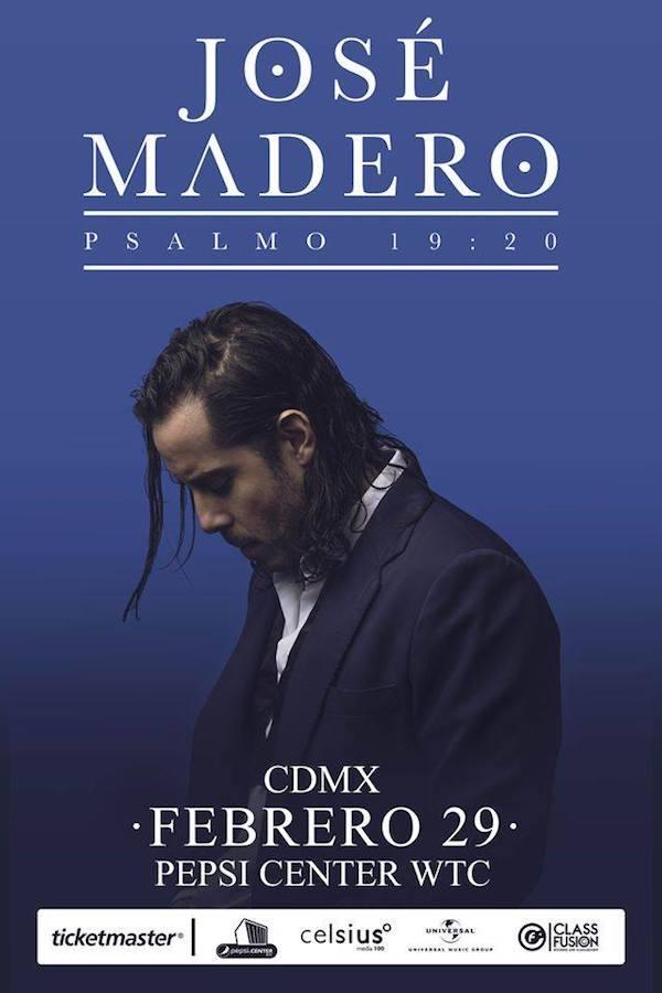 jose madero concierto boletos cdmx pepsi center wtc mexico