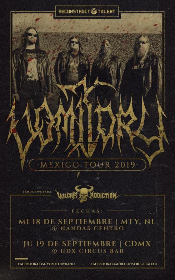 Vomitory realizará gira por México esta semana