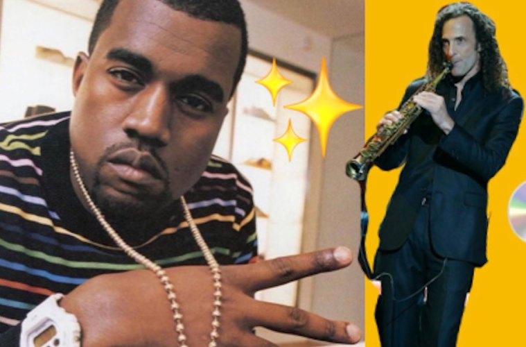 kanye west kenny g nueva colaboracion kim kardashian