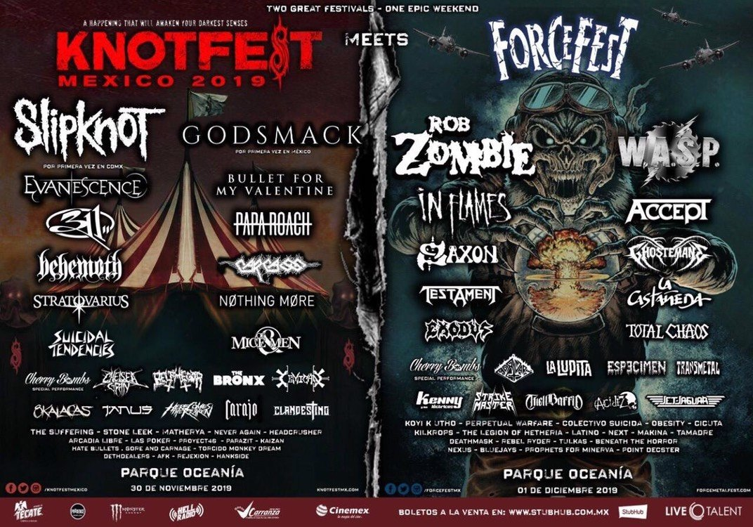 KnotFest Meets Force Fest anuncia su cartel final Excelsior