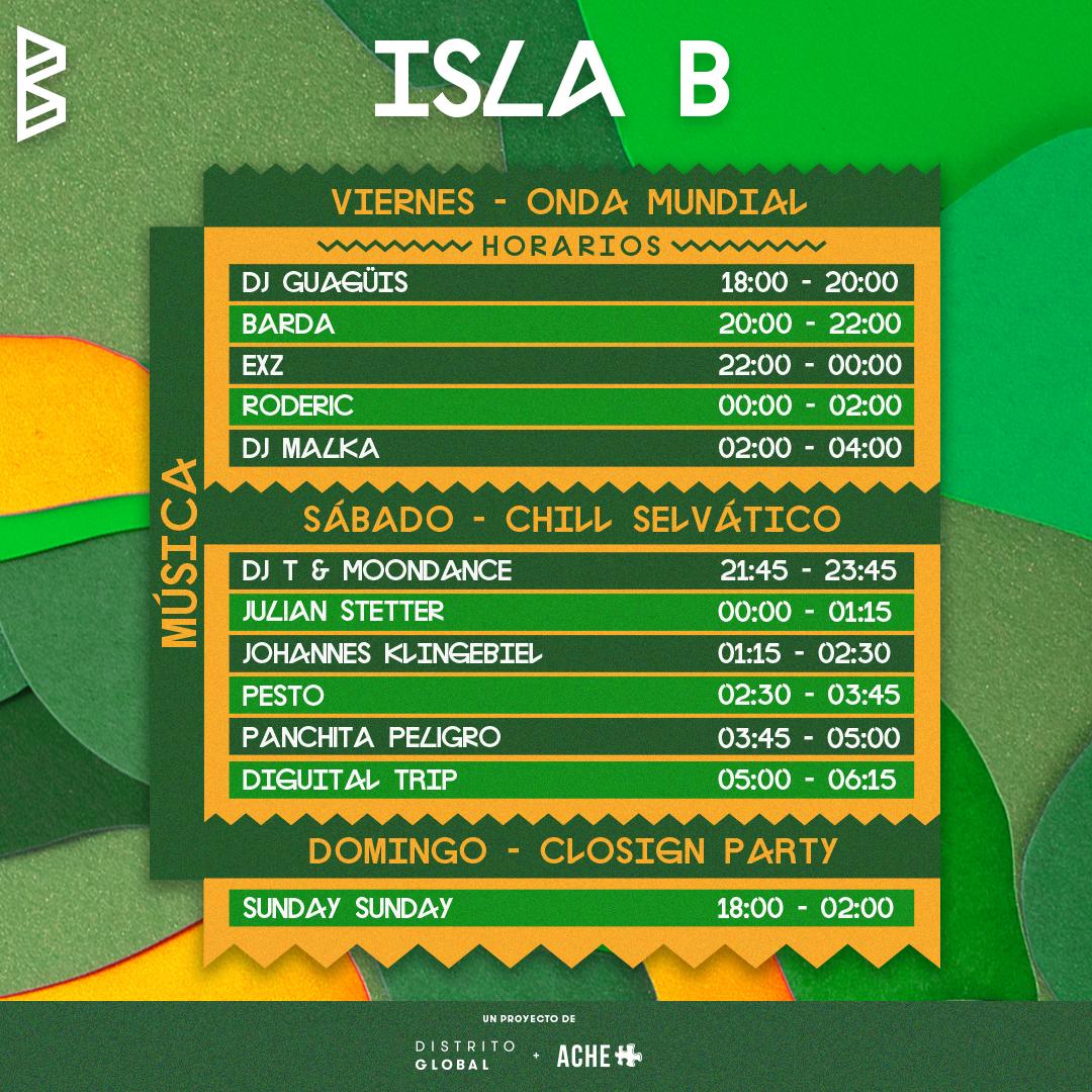Carnaval presenta La Isla B: Horarios y detalles