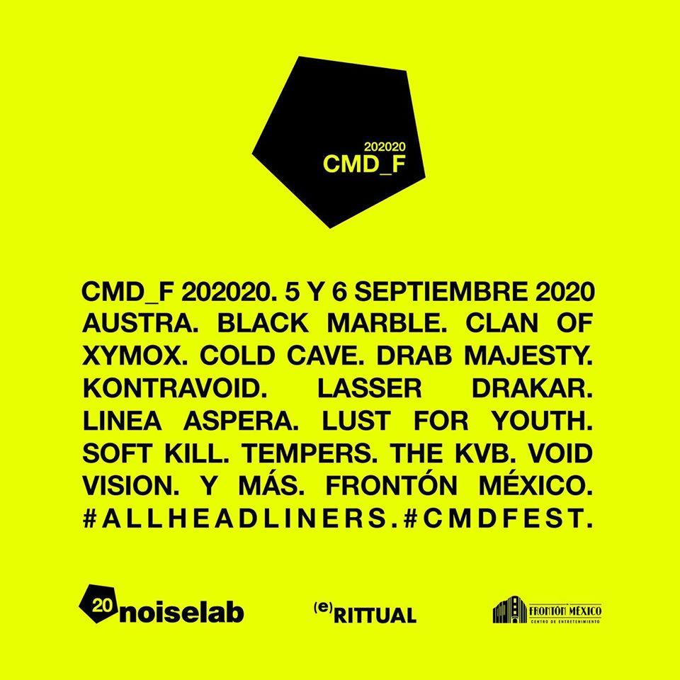 CMD FEST 2020: Artistas, fechas, boletos y más.