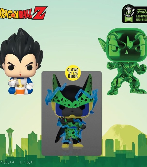 dragon ball z nuevos funko pop comic con emerald city