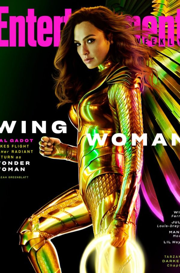 wonder woman 1984 nuevas fotos armadura golden eagle armor entertainment weekly