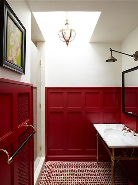 Red-and-White-Wainscot-Canandian-House-and-Home