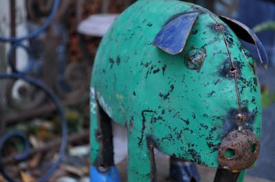 Decorative Repurposed Garden Animals