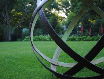Innovative Reclaimed Garden Orbs