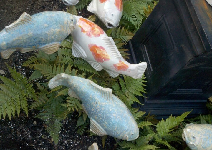 Koi Sculptures Bring Beauty Without Hassle