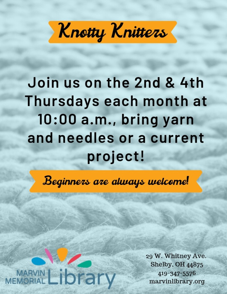 Knotty Knitters @ Marvin Memorial Library