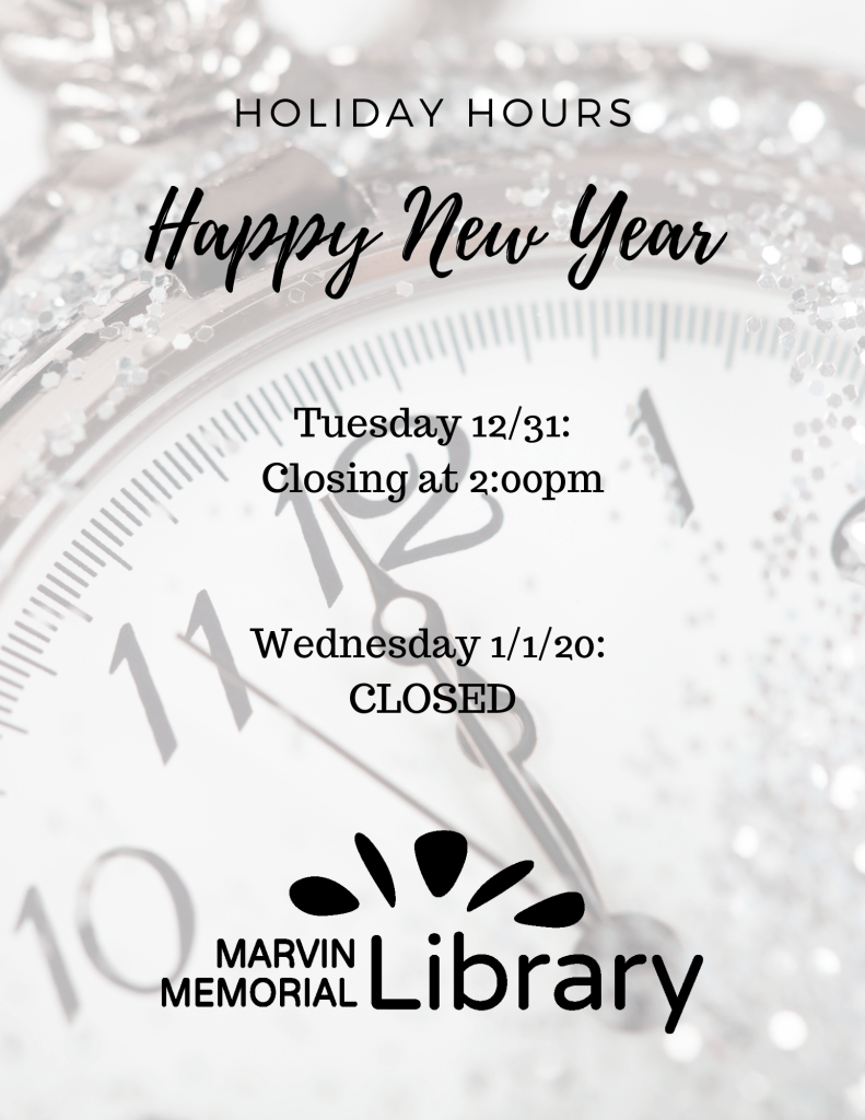 CLOSED: New Year's Day @ Marvin Memorial Library