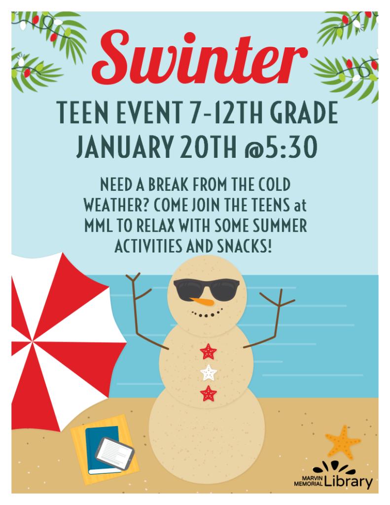 Teen Activity: Beach Day @ Marvin Memorial Library