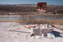 Items-for-sale are in U.S.. Merchant is in Mexico (see photo insert); Big Bend National Park, Texas
