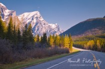 Kananaskis Valley, Hwy 40; Driving northward nearing Kananaskis Village