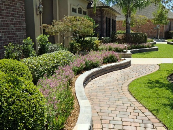 paver hardscape landscape planting