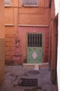 A normal door near our riad. Striking colours!