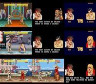 Dhalsim, E.Honda e Ken, fases alteradas para o Super NES