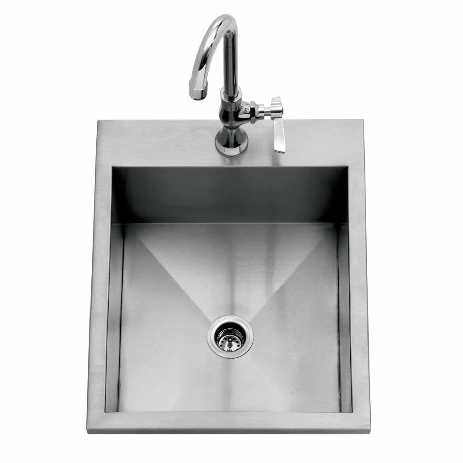 delta heat 15 inch drop in bar sink with faucet