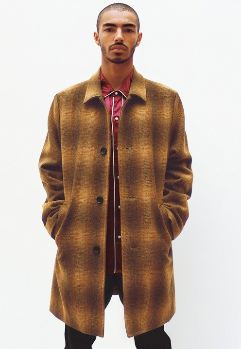 Shadow Plaid Wool Overcoat - Satin Western Shirt - Work Pant