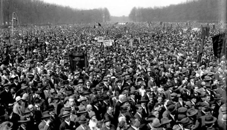 Berlin, Maidemonstration in Treptow