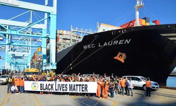 Λιμενεργάτες, ΗΠΑ, απεργία, αλληλεγγύη, κίνημα, Black Lives Matter