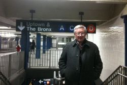 Alan Woods in New York Subway
