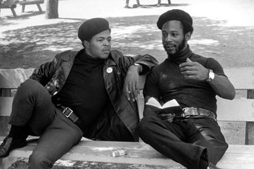 Members of the Black Panther Party studying Mao's Little Red Book