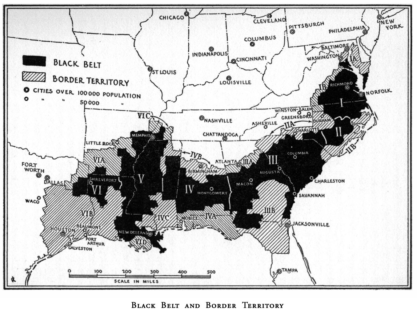 The Black Belt agricultural region, the historical national territory of the African American Nation