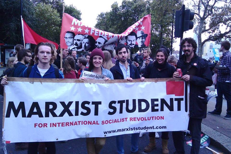 Marxist students @ protest against Tory party conference