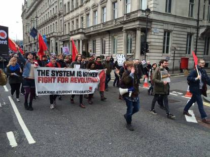 The MSF bloc on the anti-Trident demo