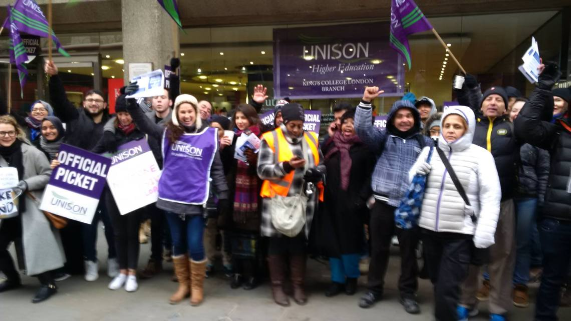 Justice For Cleaners at KCL