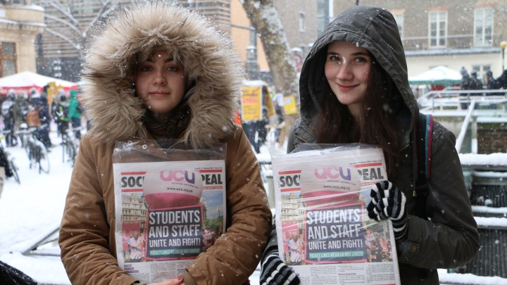 UCU marches through London as FE joins the strike and pickets stand firm