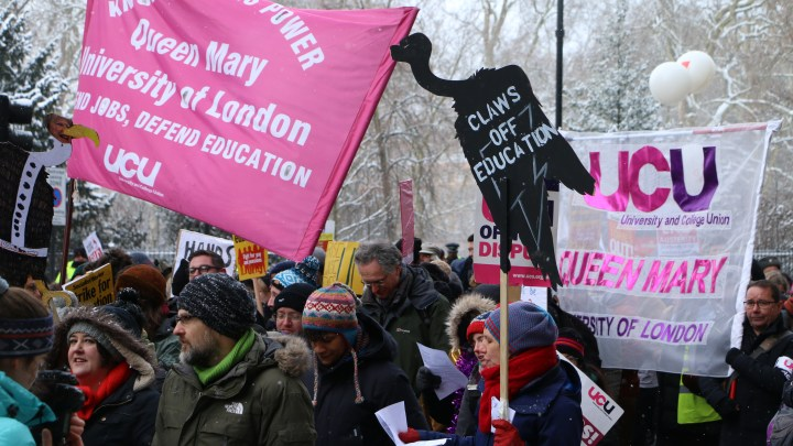 UCU: No pension cuts! Fight marketisation! Bring down the Tories! – model resolution