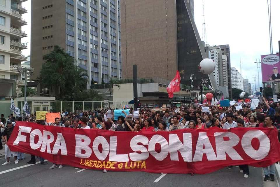 1.5 million take to the streets against education cuts: Bolsonaro Out!