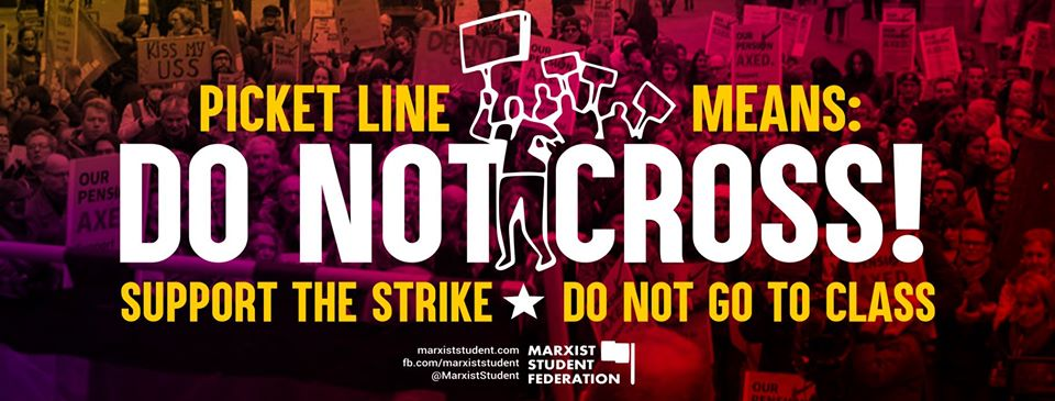 Marxist students prepare to support UCU strike