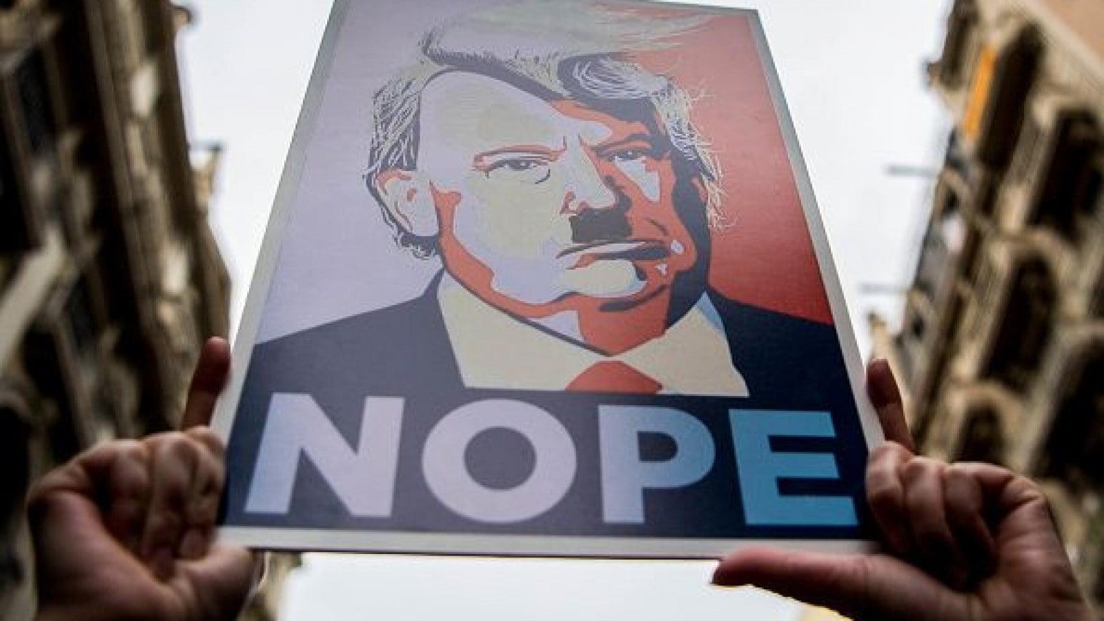 Trump placard