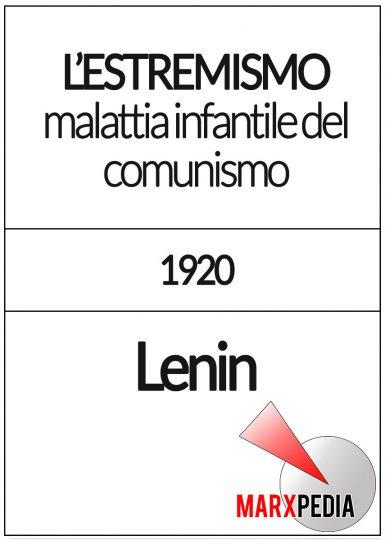 L'estremismo malattia infantile del comunismo