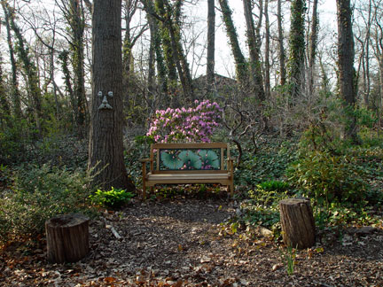 My Birthday Garden Bench, circa September, 2007.