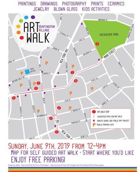 Huntington Art Walk Map