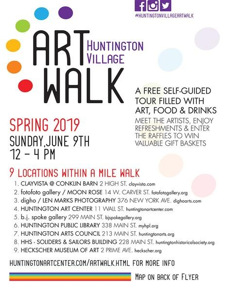 Huntington Art Walk Annoucement June 9, 2019