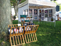 Cow Harbor Day in Northport New York with Mary Ahern the Artist