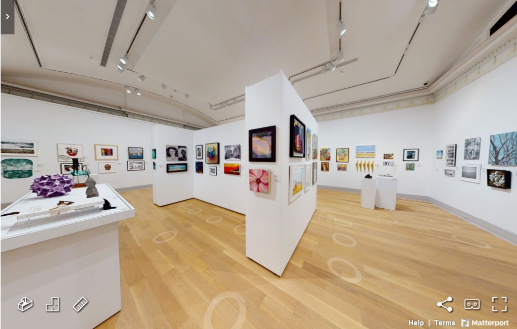Guild Hall Exhibition 2021 with the work of the artist, Mary Ahern