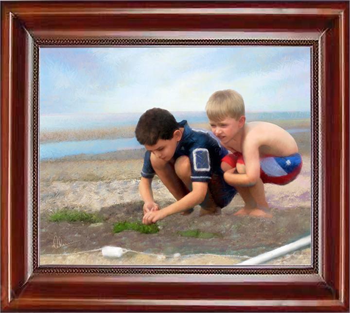Beach Boys Painting by Mary Ahern