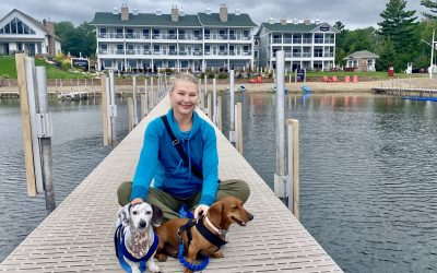 Dog-friendly Gull Lake and Nisswa, MN: Two Dachshunds on the Quarterdeck