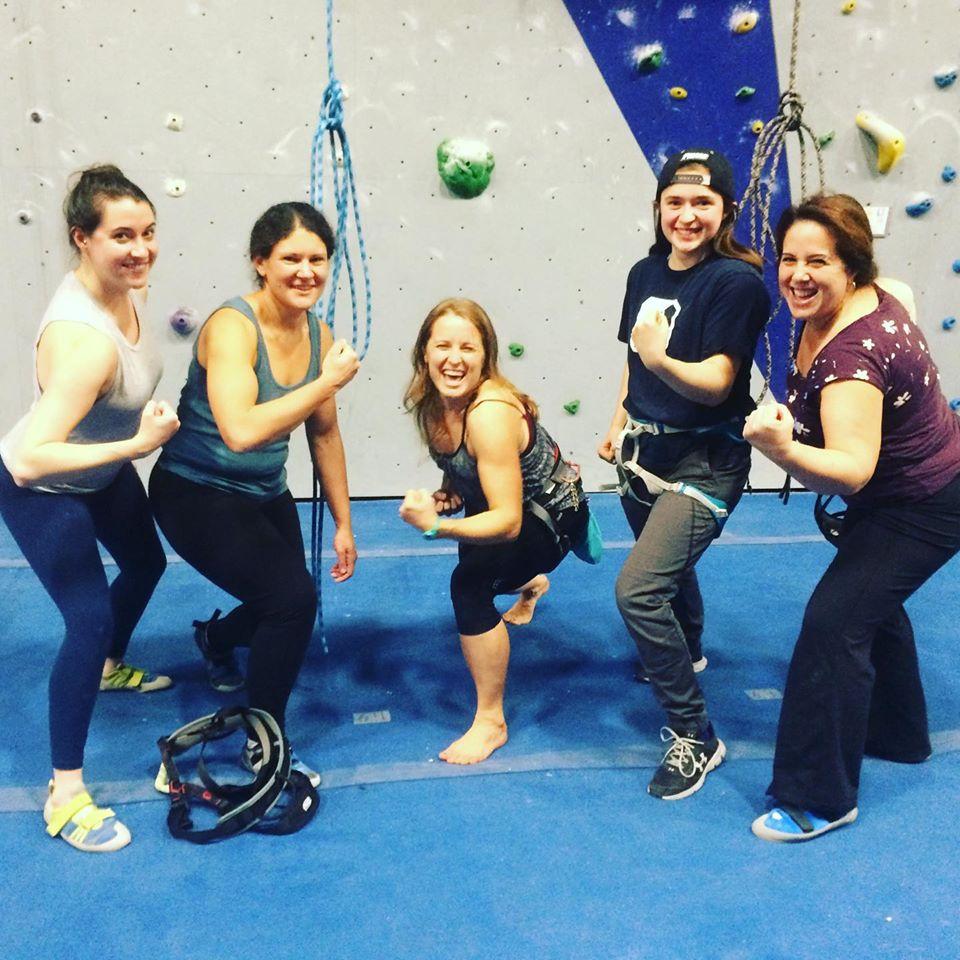 Wicked Rhody: (1/10/20 – 1/12/20)   Beginner Women's Climb Night at Central Rock Warwick