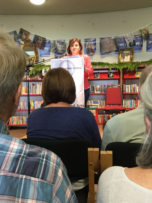 Mary Bradford readingat Bantry during the West Cork Literary Festival.